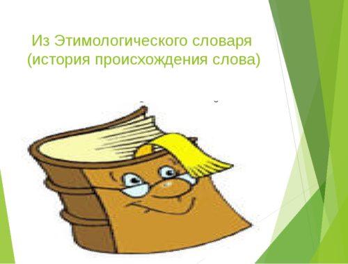 Из какого языка слово учебник