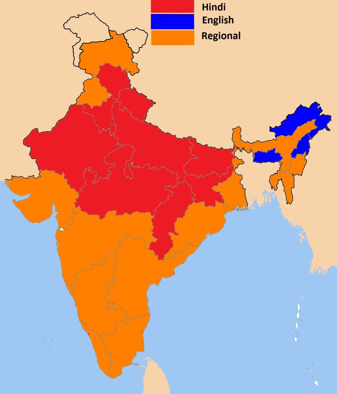 Какие страны говорят на хинди языке
