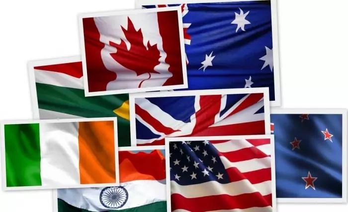 Какие страны говорят на английском языке список