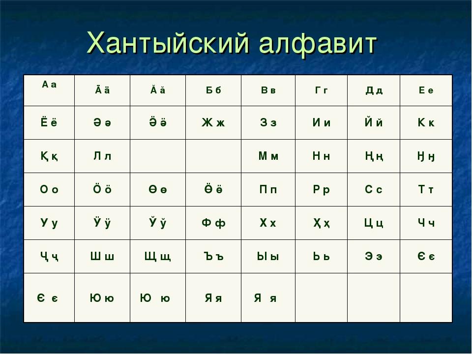 хантыйский и мансийский языки