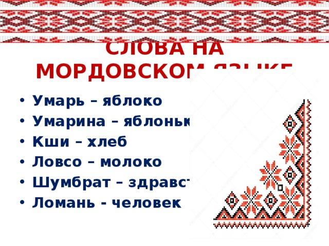 мордовский язык